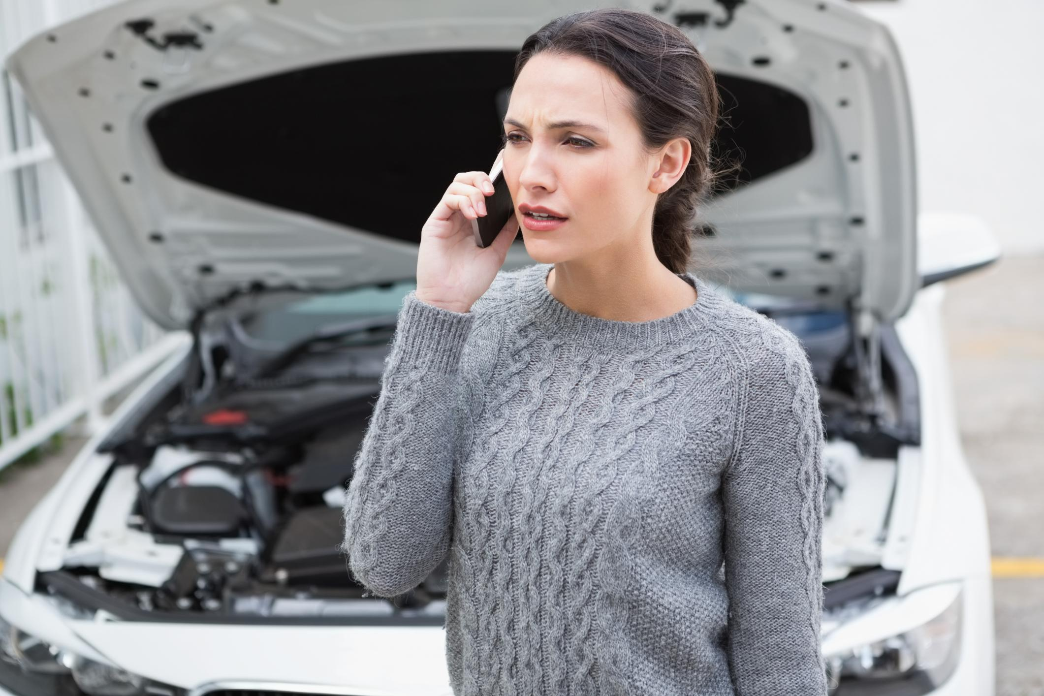 This is a picture of woman having a phone call.
